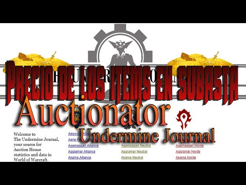 WoW: Auctionator + Undermine Journal | Precio de items en su