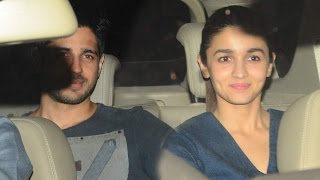 Sidharth Malhotra & Alia Bhatt Together A The Special Screening Of Phillauri