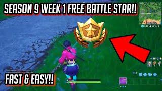 SEASON 9 WEEK 1 SECRET BATTLE STAR LOCATION!! *FREE TIERS* | Fortnite