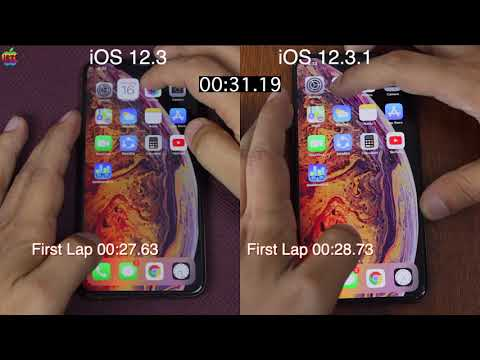 iOS 12.3.1 vs iOS 12.3 speed test on iPhone xs Max | iSuperTech