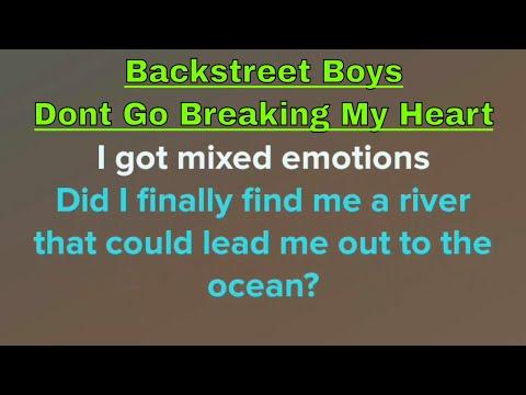 Backstreet Boys - Dont Go Breaking My Hearts (Karaoke + Lyrics)