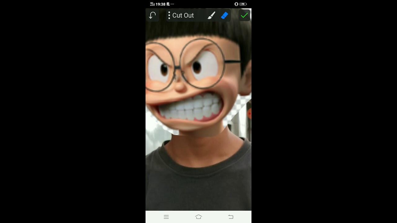 Tutorial Edit Keren Kepala Nobita Di Aplikasi Picsay Pro Youtube