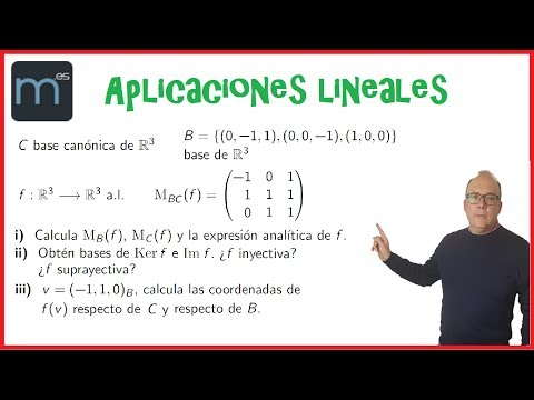 Aplicaciones Lineales, Endomorfismo, Matriz De B A C De F, Espacios Vectoriales