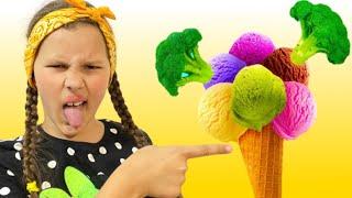 Do you like Broccoli Ice Cream?   Nursery Rhymes & Kids Songs by Miss Emi