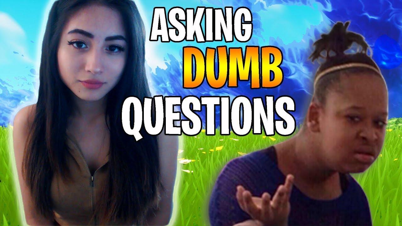 Asking People DUMB Questions On Fortnite!
