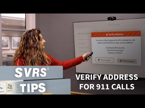 SVRS Tip: Verify Address For 911 Calls