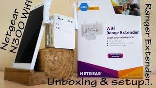 netgear n300 wifi ranger extender unboxing setup
