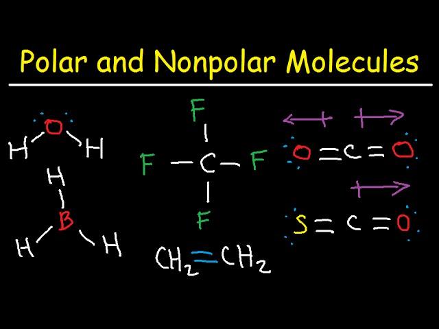 Polar And Nonpolar Molecules How To Tell If A Molecule Is Polar Or Nonpolar Youtube