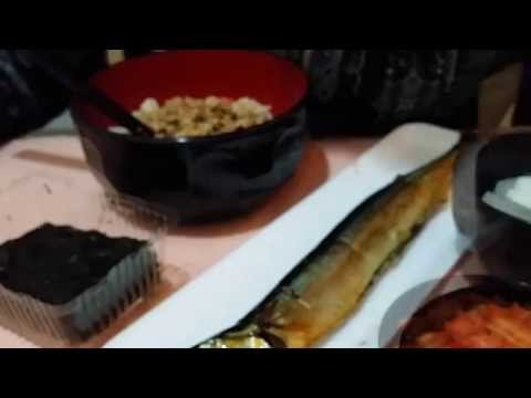 Natto with Rice and Grilled Fish : ASMR / Mukbang ( Eating Sounds )