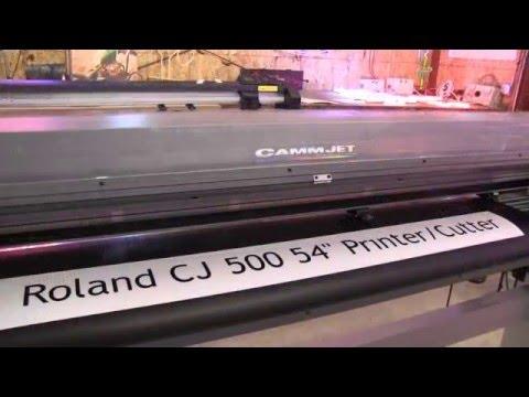 Roland Fj52 Eco Solvent Printer Cutter 54 Doovi