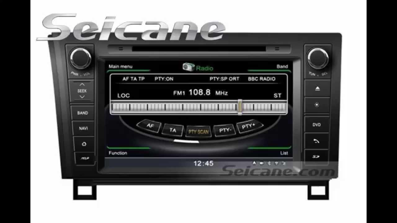 2006 2013 toyota sequoia gps navigation cd radio audio. Black Bedroom Furniture Sets. Home Design Ideas