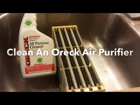 How To Clean An Oreck XL Air Purifier Truman Cell, Oreck All Purpose Cleaner.