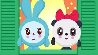Малышарики - Умные песенки - Внутри и снаружи - мультфильм для самых маленьких