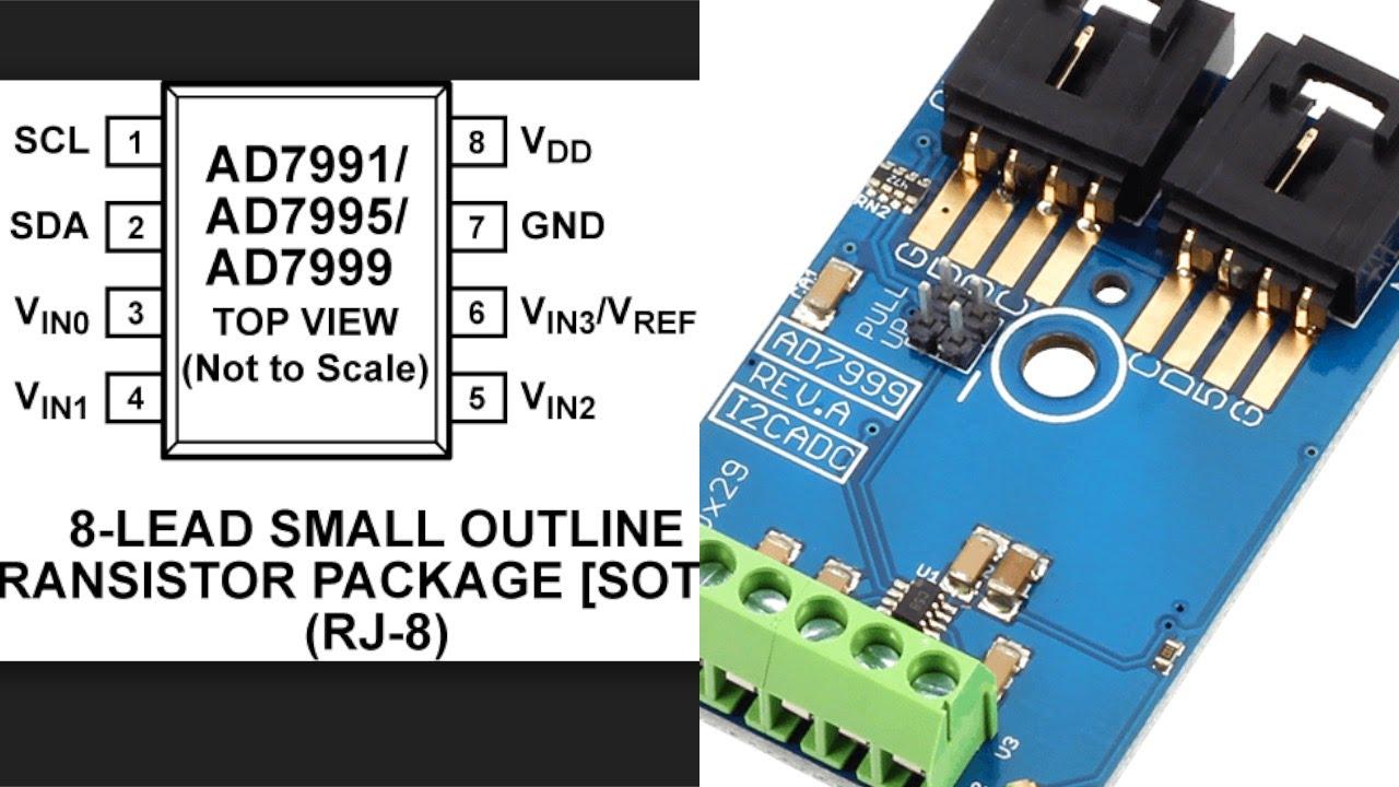 Arduino Nano AD7999 I2C Analog to Digital Converter Tutorial - YouTube