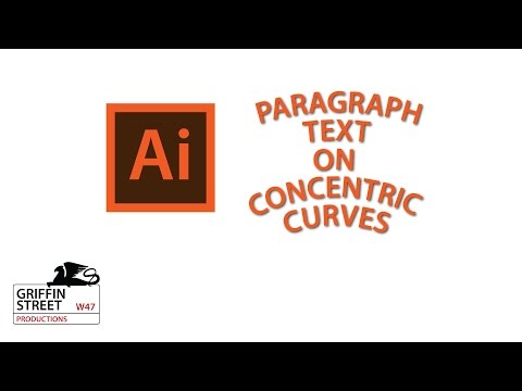 Mimic Curved Paragraph Text - Adobe Illutrator Tutorial - Threaded Text And Text On Path