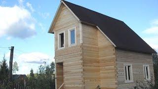 Дом из бруса. Строительство.(Строительство дома из бруса на гараже Заказчика. САЙТ - http://sdbgp.ru/ В данном видео показано, что можно быстро..., 2010-11-09T06:42:13.000Z)