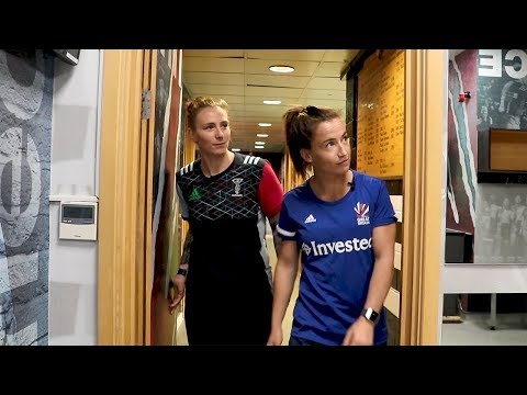 Harlequins Rugby meets GB Hockey - Jade Konkel and Maddie Hinch on The Stoop tour