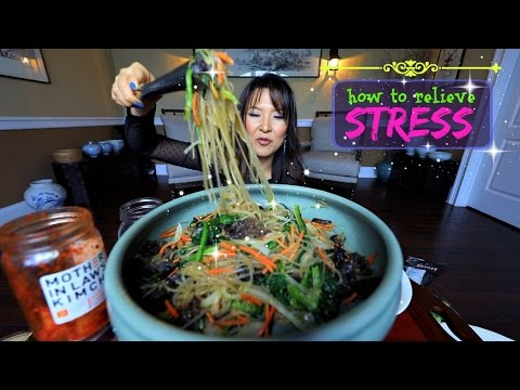 JAPCHAE Mukbang & Recipe (잡채 Glass Noodles)