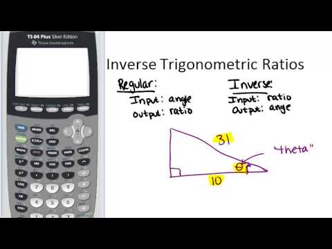 Inverse Trigonometric Ratios Lesson Geometry Concepts
