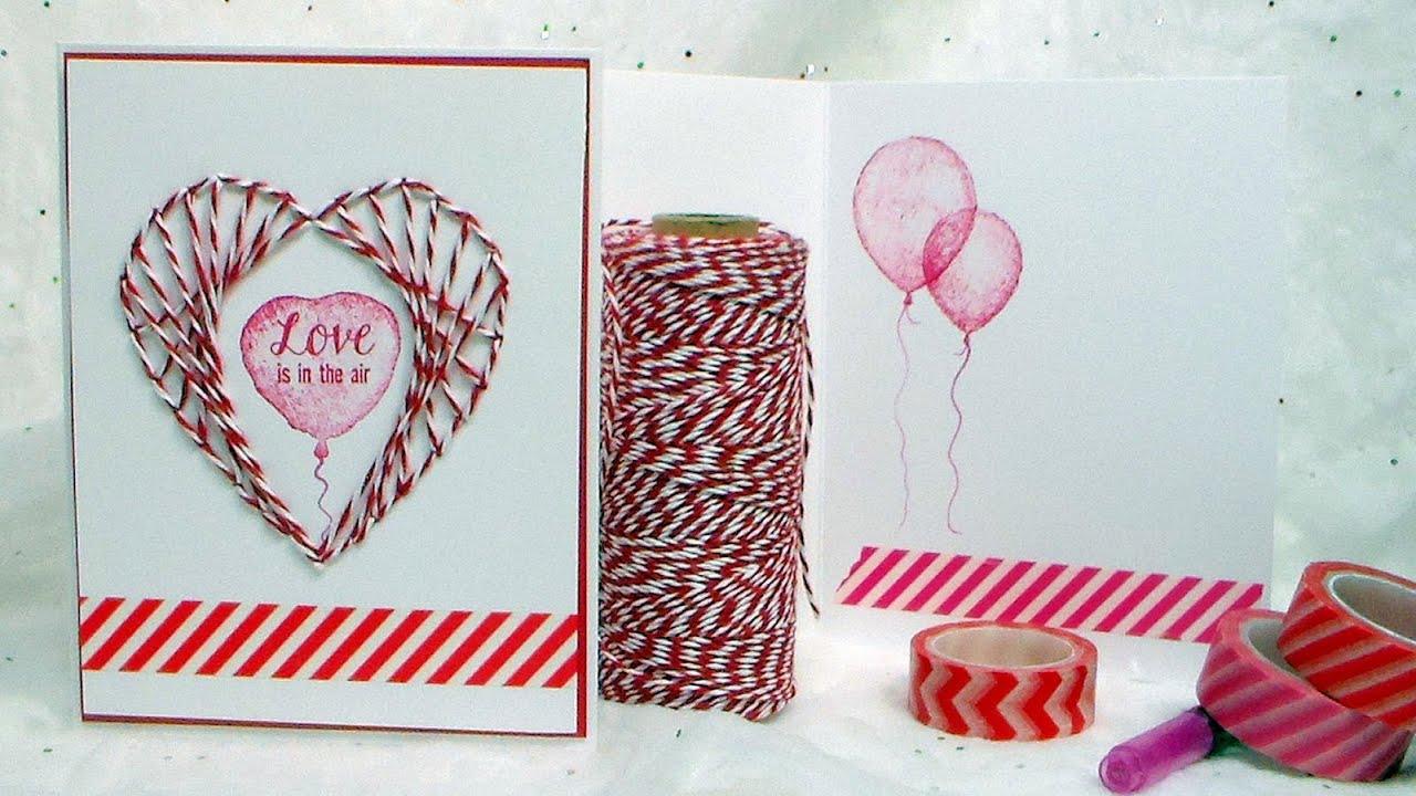 String Art Heart Card Youtube