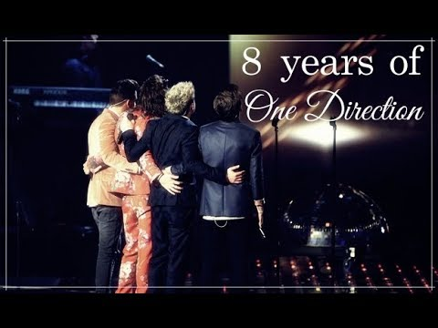 8 years of One Direction.