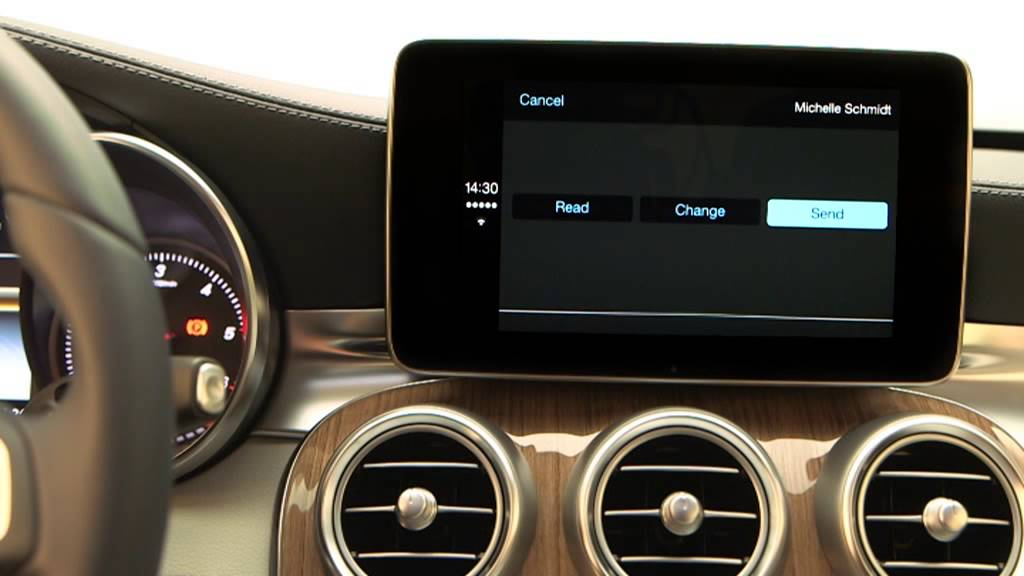 apple carplay mercedes klasy c 2014 w205 youtube. Black Bedroom Furniture Sets. Home Design Ideas
