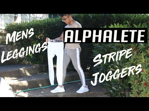 HONEST ALPHALETE STRIPE JOGGERS & MEN'S LEGGINGS REVIEW