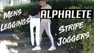 HONEST ALPHALETE STRIPE JOGGERS & MEN'S LEGGINGS REVIEW