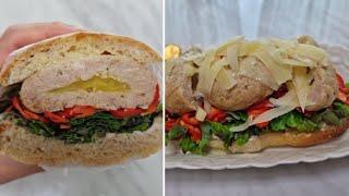 [1분완성] 고구마 닭 가슴살 함박 스테이크 샌드위치 …