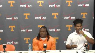 Jordan Williams and Curt Maggitt at the pre-training press conference July 31, 2014