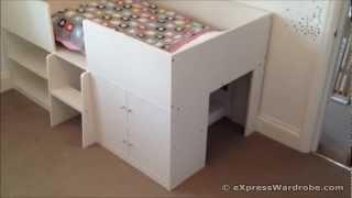 Kids Sleeper Storage Bed Design White - Next Furniture