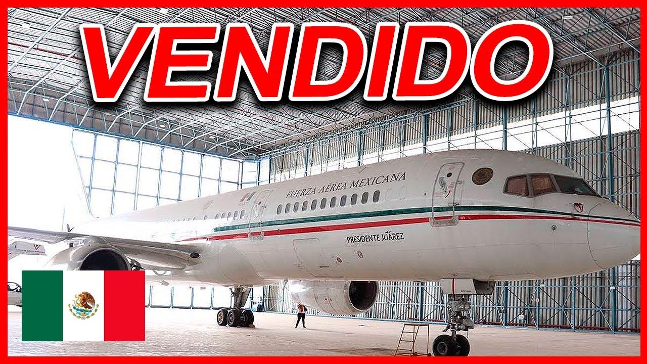 Venden el avión presidencial 'Benito Juárez' Boeing 757-225
