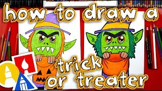 How To Draw A Trick-or-Treater