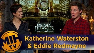 Katherine Waterston & Eddie Redmayne Fantastic Beasts Interview