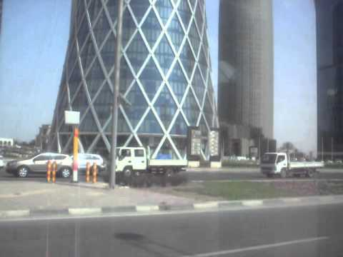 Driving Through Downtown Doha, Qatar