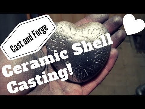 Casting a heart from aluminum (ceramic shell casting) [HOW TO]