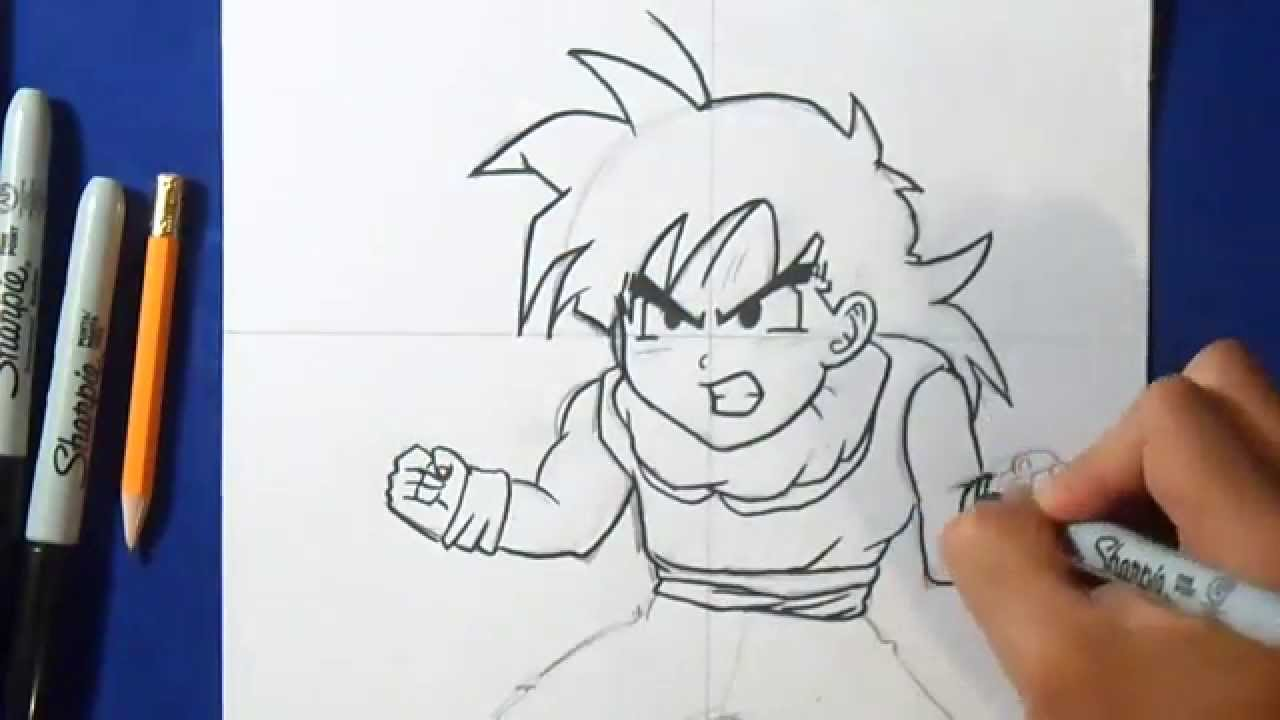 Comment dessiner gohan dragon ball z youtube - Dessiner dragon ...