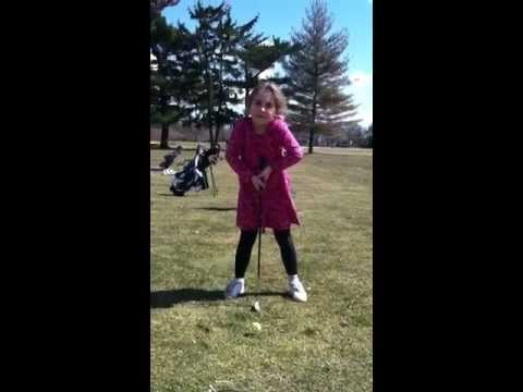 Natalie's First Golf Lesson