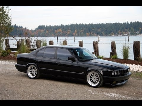 BMW E34 535i Burnout  YouTube