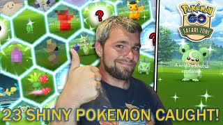 ST. LOUIS SAFARI ZONE!... KINDA! 23 SHINY POKEMON CAUGHT! (Pokemon GO)