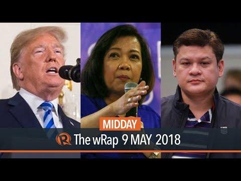 Morales on Paolo Duterte probe, Sereno returns to SC, Trump on Iran deal | Midday wRap