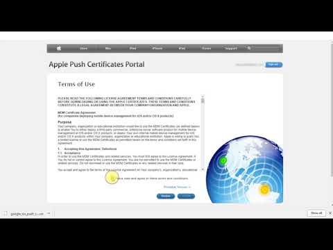 G Suite Administrator Course - Apple Push Certificate For IOS Device Management