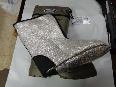 Deck Boots Fishing Boots With Insulated Lining. Green. By Marlin Co.