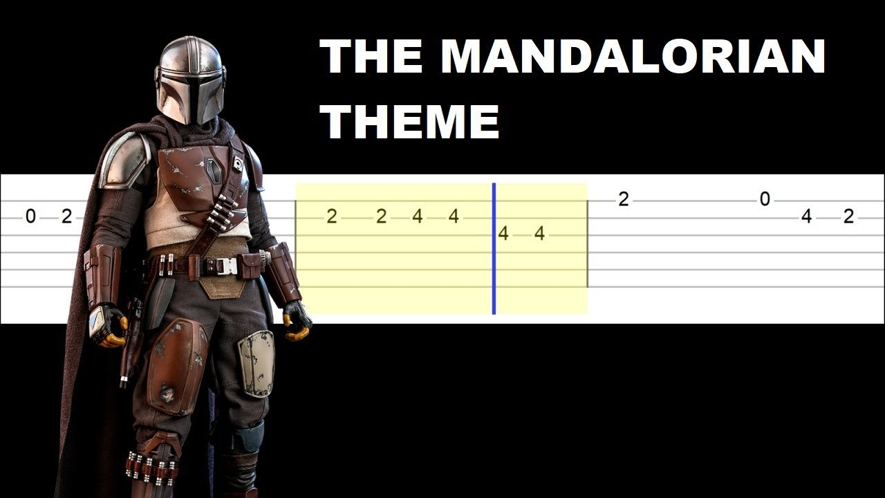 The Mandalorian Theme Easy Guitar Tabs Tutorial Youtube