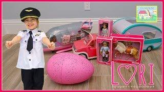 Toy Egg Surprise Opening Lori Dolls Surprises & Pilot Dress Up Toys Review for Kids