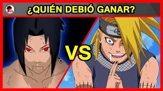 Naruto Shippuden: Sasuke Vs Deidara - QUIÉN DEBIÓ GANAR