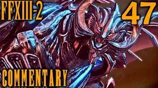 Final Fantasy XIII-2 Walkthrough Part 47 - Chaos Bahamut & Caius Boss Battle (Academia 500 AF)