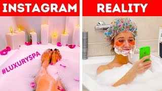 INSTAGRAM VS REALITY || THE FUNNY TRUTH BEHIND THE SCREEN