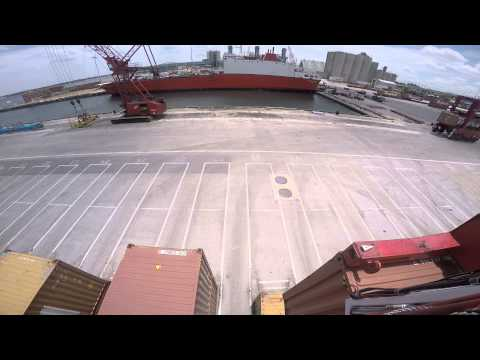 Port of Palm Beach Straddle Carrier Operation