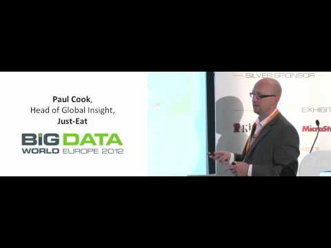 Applying your data to achieve a 360° customer view - Paul Cook, Just Eat - Big Data World 2012